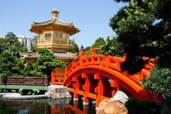 Gouden paviljoen in Hongkong Royalty-vrije Stock Fotografie