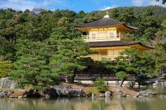 Gouden Paviljoen Kinkaku -kinkaku-ji Royalty-vrije Stock Foto's