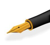 Gouden pen Stock Afbeeldingen
