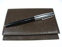 Gouden pen Stock Afbeelding