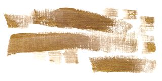 Gouden penseelstreken in gouache royalty-vrije illustratie