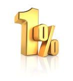 Gouden 1 Percent Royalty-vrije Stock Foto
