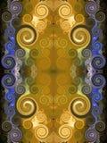 Gouden Perzisch tapijt stock illustratie