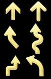 Gouden pijlen Royalty-vrije Stock Afbeelding