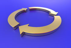 Gouden pijlen kringloop Royalty-vrije Stock Fotografie