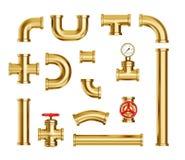 Gouden pijpleiding stock illustratie