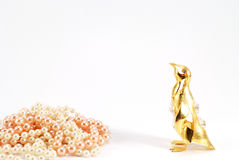 Gouden pinguïn Stock Fotografie