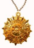 Gouden piraatmedaillon Royalty-vrije Stock Afbeelding