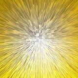 Gouden piramide abstracte achtergrond Royalty-vrije Stock Foto