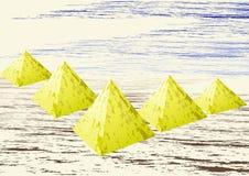 Gouden piramides Stock Fotografie