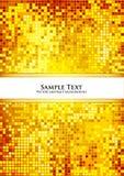 Gouden pixelachtergrond Royalty-vrije Stock Fotografie