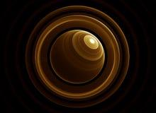 Gouden planeet en ringen Royalty-vrije Stock Foto
