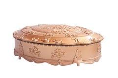 Gouden plastic doos uitstekende stijl Royalty-vrije Stock Afbeelding