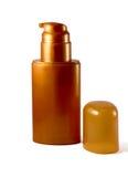 Gouden plastic fles Royalty-vrije Stock Foto