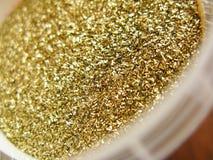Gouden poeder Royalty-vrije Stock Fotografie