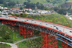 Gouden poortbrug Stock Foto