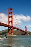 Gouden poortbrug royalty-vrije stock afbeeldingen