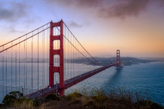 Gouden poortbrug in San Francisco Stock Afbeeldingen
