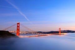 Gouden poortbrug zonsondergang-1 Royalty-vrije Stock Fotografie