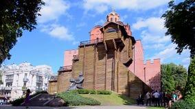 Gouden Poorten van Kyiv in Kiev, de Oekraïne, stock video