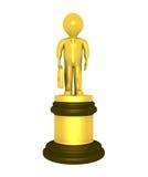 Gouden prijs voor zakenman Stock Foto's