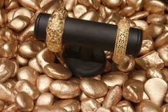 Gouden product Stock Foto's