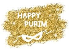 Gouden Purim-achtergrond stock illustratie