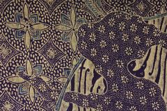 Gouden purpere batikachtergrond Royalty-vrije Stock Foto