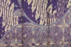 Gouden purpere batikachtergrond Stock Foto's