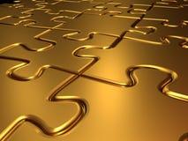 Gouden puzzel Royalty-vrije Stock Afbeelding