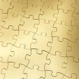 Gouden Puzzelachtergrond Vector Illustratie