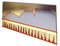 Gouden raad van voorraadgrafiek vector illustratie
