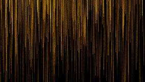 Gouden regenachtige deeltjesanimatie stock video