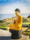 Gouden Reuzeboedha, het Hoofdstandbeeld van Boedha bij Sanbanggulsa-Tempel, Sa Royalty-vrije Stock Foto