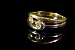 Gouden ring Stock Foto's