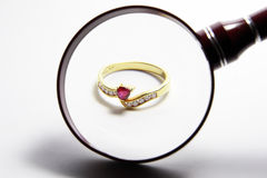 Gouden ring Royalty-vrije Stock Afbeeldingen