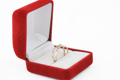Gouden ring Stock Foto