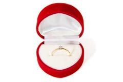 Gouden ring met diamant Royalty-vrije Stock Foto