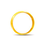 Gouden ring met schaduw en hoogtepunten Royalty-vrije Stock Afbeeldingen