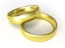Gouden ringen stock illustratie