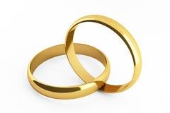 Gouden ringen Royalty-vrije Stock Foto's