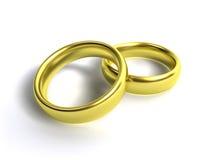 Gouden ringen Royalty-vrije Stock Fotografie