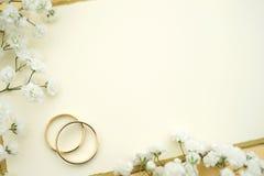 Het huwelijk nodigt uit Royalty-vrije Stock Afbeeldingen
