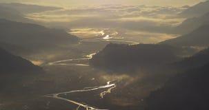 Gouden rivier stock video