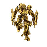 Gouden robot Stock Afbeelding