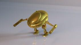 Gouden robot Royalty-vrije Stock Foto's
