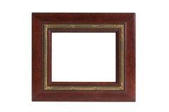 Gouden rode houten omlijsting stock foto