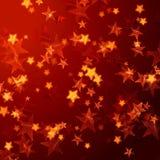Gouden rode sterrenachtergrond vector illustratie