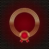 Gouden rond frame met kenteken Royalty-vrije Stock Afbeelding