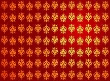 Gouden rood koninklijk patroon Stock Fotografie